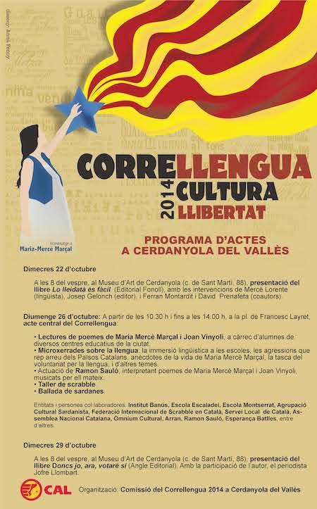 2014 Correllengua_Cerdanyola_Cartell p