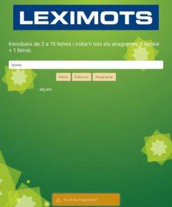 anagramador de web Leximots