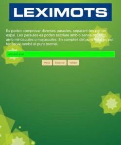 varies paraules en el validador de web Leximots diccionari scrabble català