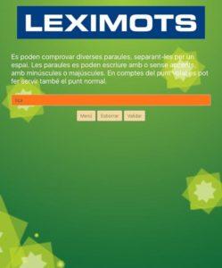 error en el validador de web Leximots