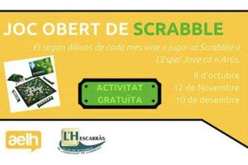 Joc, obert, Scrabble en català, Espai Jove, Can n'Arús, l'Hospitalet, AELH, Estudiants, L'H, Club de Scrabble, L'Hospitalet del Llobregat, L'Hescarràs, FISC, Scrabble Escolar, interinstituts