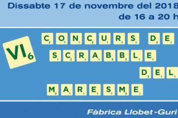 Calella, scrabble, català, llengua, joc, Maresme, torneig, concurs