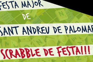 festa, major, Sant Andreu, Sant Andreu de Palomar, Barcelona, 2018, scrabble, català, escrable, duplicada, teixit, Can Fabra