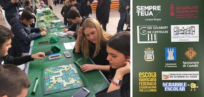 scrabble, català, valencià, Normes de Castelló, Castelló, Castelló comarques, club, 2018, Escola Valenciana, #sempreteua