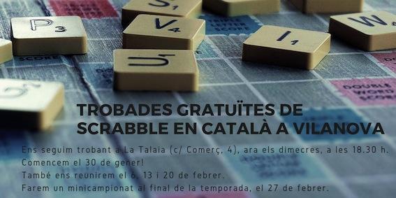trobada, taller, obert, gratuït, scrabble, català, i tu jugues en català, voluntariat, VxL, CNL, CPNL, SLC, FISC, Federació Internacional de Scrabble en català, Vilanova, Vilanova i la Geltrú, VNG