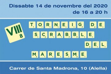 cartell torneig del Maresme Alella scrabble català