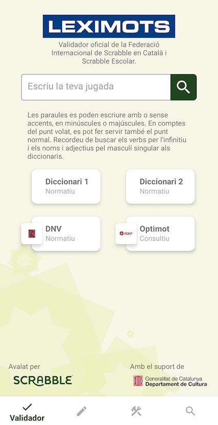 validador de app Leximots